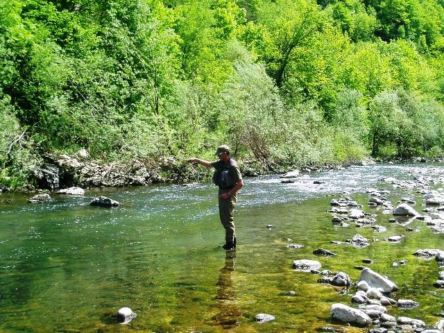 Rzeka Irdrijca - Słowenia - www.przewodnicywedkarscy.pl - Wyprawy na pstrągi