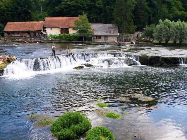 Rzeka Krka - Słowenia - www.przewodnicywedkarscy.pl - Wyprawy na pstrągi