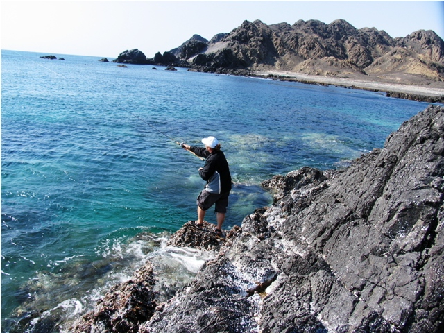 Oman - plaża Ras Madrakah - Morze Arabskie - wyprawy wędkarskie - www.przewodnicywedkarscy.pl