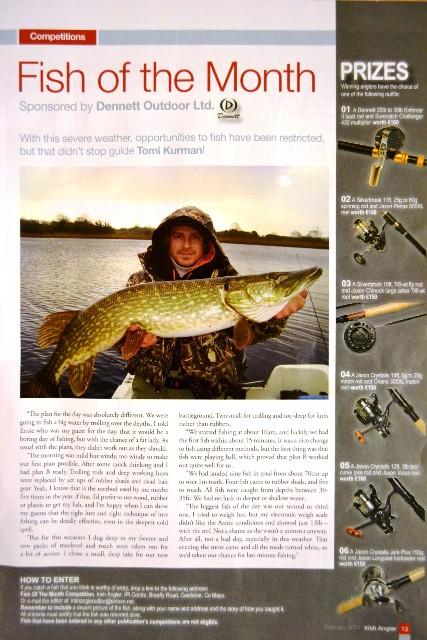 Irish Angler - szczupak - www.przewodnicywedkarscy.pl - Wyprawy wędkarskie