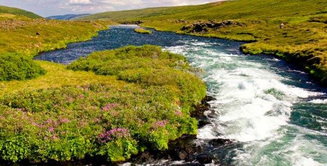 Islandia - górska rzeka - www.przewodnicywedkarscy.pl - Wyprawy wędkarskie