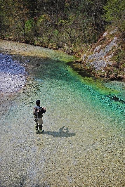 Trebuscica - Słowenia - Łowienie na muchę - www.przewodnicywedkarscy.pl - Wyprawy wędkarskie