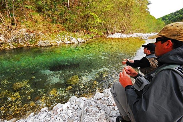 Przepiękna rzeka Trebuscica - Słowenia - Łowienie na muchę - www.przewodnicywedkarscy.pl - Wyprawy wędkarskie