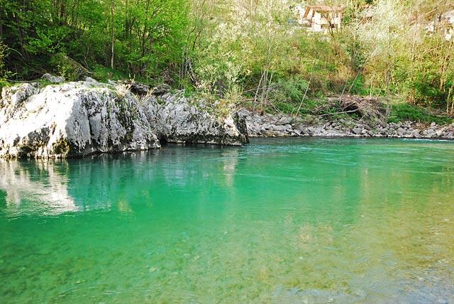 Piękna Idrijca - Słowenia - Łowienie na muchę - www.przewodnicywedkarscy.pl - Wyprawy wędkarskie