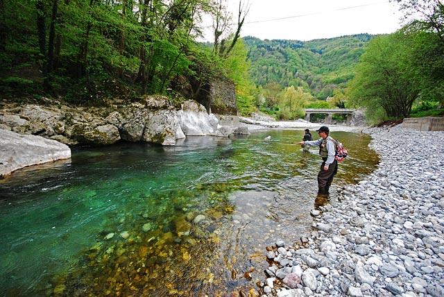 Łownie na nimfę - Baca - Słowenia - Łowienie na muchę - www.przewodnicywedkarscy.pl - Wyprawy wędkarskie