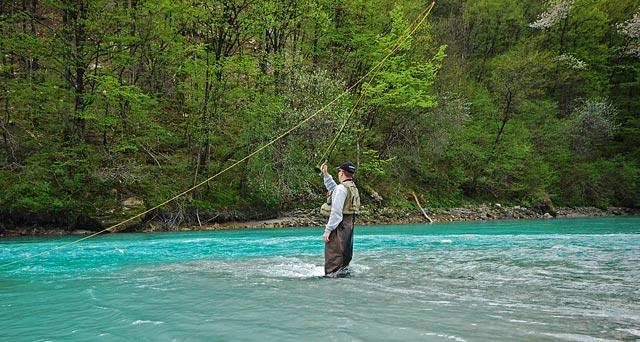 Łowienie na daleką nimfę - Słowenia - Łowienie na muchę - www.przewodnicywedkarscy.pl - Wyprawy wędkarskie
