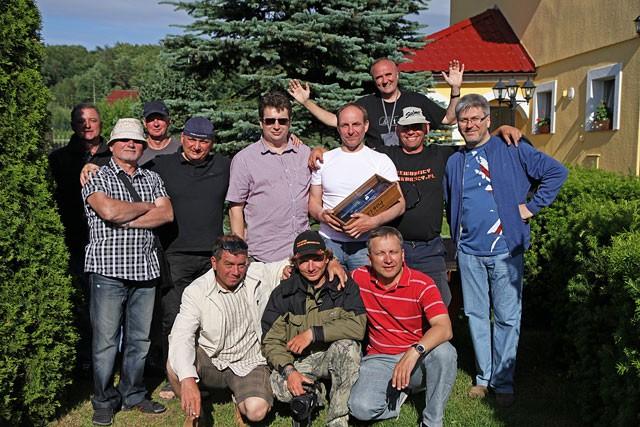 Zdjęcie pożegnalne - Żarnowiec - Impreza integracyjna - www.przewodnicywedkarscy.pl