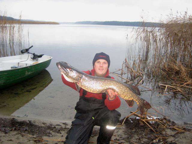 Duży szczupak z jeziora - www.przewodnicywedkarscy.pl - Wyprawy wędkarskie